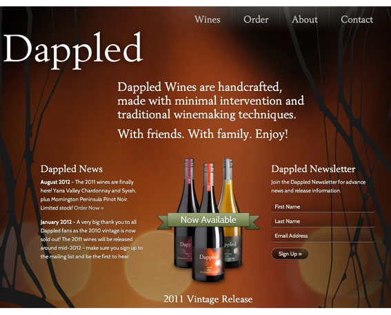 Dappled Wines in Melbourne – Wine Bottle Photography
