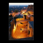 Jaisalmer India indian city fort desert gates battlements