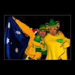 Australian Supporters in yellow World Cup Football