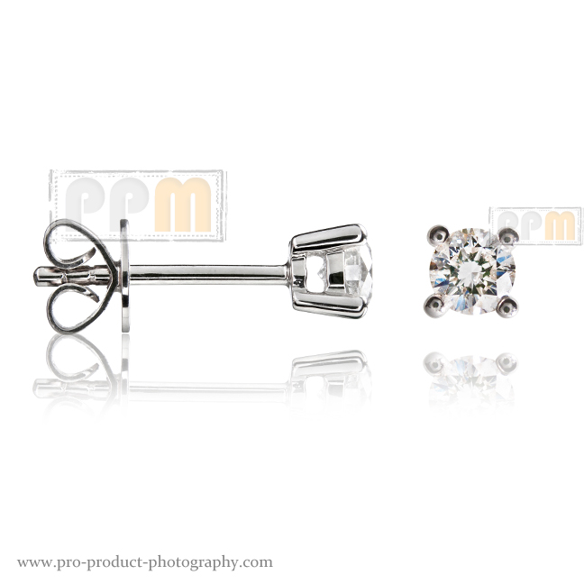 Diamond earrings Jewellery Photographer Melbourne