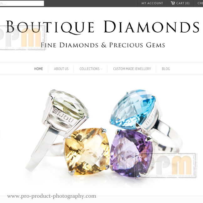 jewellery website photographers